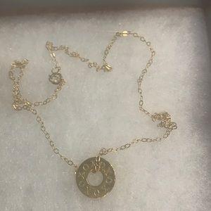 XO vermeil necklace